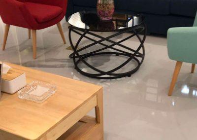 Beijing Store: resin floor and stairs